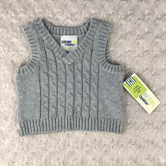 Genuine Kids by Oshkosh Infant Boys Pullover Sweater Blue Size 12 Months NWT